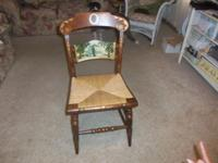 Collector's l.hitchcock rush seat chair. Classic hard