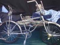 This is an exclusive lowrider bike with an all twisted