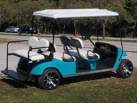 Six passenger limo ezgo golf cart These golf carts are