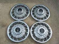 Nice set of Lincoln-Mercury wire wheel covers set of