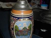 Linderwirten stoneware beer stein from Germany has