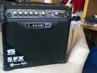 Line 6 Spider III Guitar Amp, 15 amp l6 fx two at once,