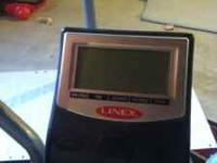 Linex elliptical machine. Self powered, but has battery