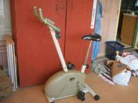 This is a Linex Exercise bike. The extra big seat is