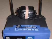 Linksys 2.4Ghz Wireless Router, Access Point and 4-port