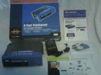 Linksys 3-Port PrintServer for Parallel Printers model