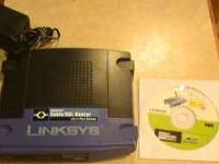 Up for sale is a Linksys Cable/DSL EtherFast router