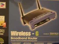 I have a Linksys WRT54G Wireless-G Broadband Router for