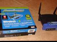 Linksys Wireless Router WRT54GS. Great Condition. Works