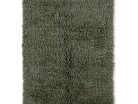 The 3A Flokati Olive 5 ft. x 7 ft. Area Rug exudes