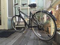 Linus Mixte 3 Speed, size medium, black frame with back