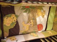 I have a like new lion king crib set, we decided to