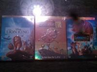 All three lion king movies new and sealed DVD set.