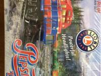 Just in time for Christmas! This Lionel train set,