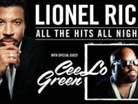 2 tickets to see Lionel Richie AND CeeLo Green. Austin
