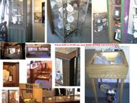 Nashville Liquidation Sale of display cases oak wood