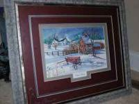 "I have two Lisa Geiman prints Quiet Snow 17 1/4""L X"