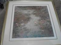 Framed lithograph for sale $225.0r best offer. In the