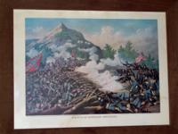 Lithograph of 'Battle of Kenesaw Mountain' from the