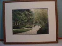 Four exceptional Harold Altman park scenes lithographs