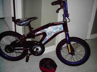 Spider Man Bike with matching Helmet , 16 inch $ 45