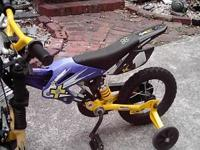 12 inch Boys Motorcycle bike with Training wheels,