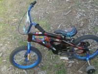 Great little bike with a padded seat and Spiderman