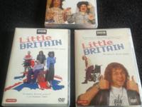 Little Britain, Series 1-3 each series dvd has 2 discs,