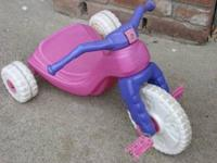 This is a sweet, simple little big wheel trike that my