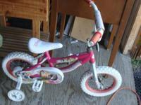 Disney Princess bike 12 inch wheels, white tires