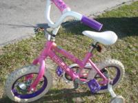 Single speed with training wheels, perfect size for