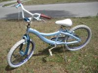 Blue Schwinn Bicycle 20 inch wheel, all terrain tires