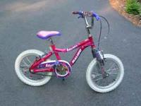 "For sale is a little girls 12"" bike in very good"