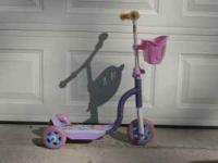For Sale! Little girls scooter. Call  if interested.