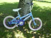 "THIIS IS A VERY NICE LITTLE GIRLS 16"" BIKE IT HAS 16 X"