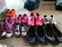 LITTLE GIRLS SHOES ALL SIZES AND STYLES..ASKING 3 AND