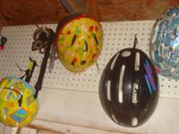 I have several bike helmets that range in size from