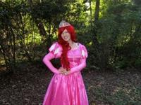 Adult Ladies Cosplay Little Mermaid Land Dress - Pink
