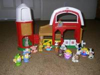 Little people farm with Farmer, goat, chicken, cow,