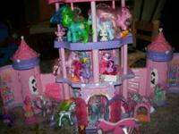 Little Pony Castle for sale with around 30 pieces. This