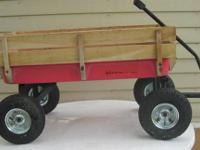 "Big Foot All-Terrain Red Cargo Wagon -- 33""L x 15""W."