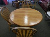 We've available this little solid walnut table with