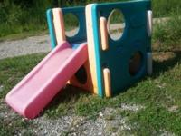 Little tikes outdoor play center with slide. If