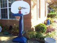 Little Tikes adjustable basketball goal. Adjusts from 4