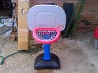 Little Tikes basket ball goal in average shape. The