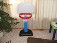 Like new little tikes basketball hoop. There is no wear