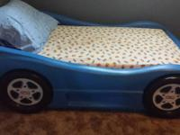 Little Tikes toddler-sized car bed and EUC Sealy
