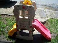 Selling a used Little Tikes Castle Slide in great