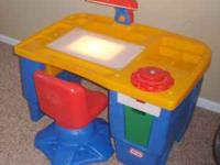 We are selling our Little Tikes childs desk. It is made