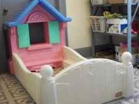 For sale is a little tikes cottage house toddler bed.